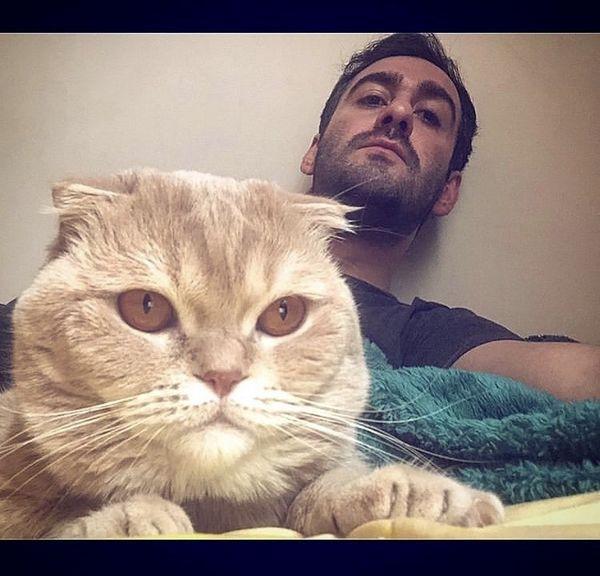 نیما شعبان نژاد و گربه خان + عکس