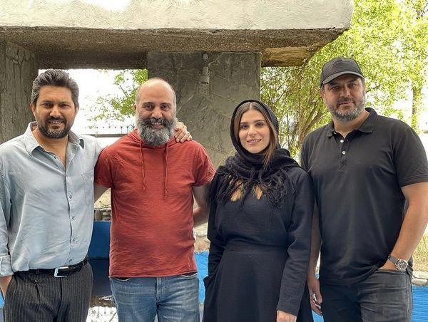 سحر دولتشاهی و همسرش در پشت صحنه میخواهم زنده بمانم + عکس