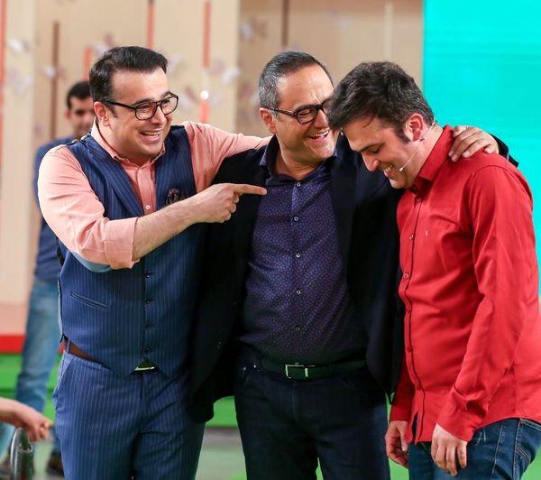 خنده از ته دل سپند امیرسلیمانی با بازیگر جنجالی اخیر+عکس