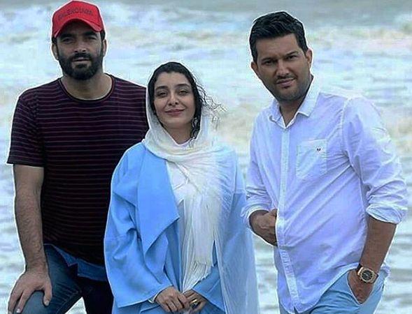حامد بهداد و ساره بیات در لب دریا در مازندران+عکس