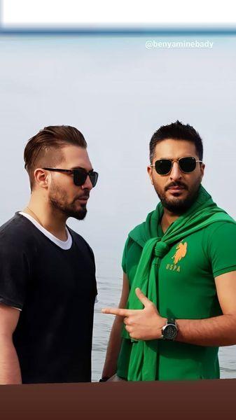 دانیال عبادی و دوستش در کنار دریا + عکس