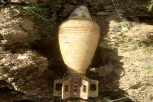 یک گلوله خمپاره عملنکرده در مریوان کشف شد