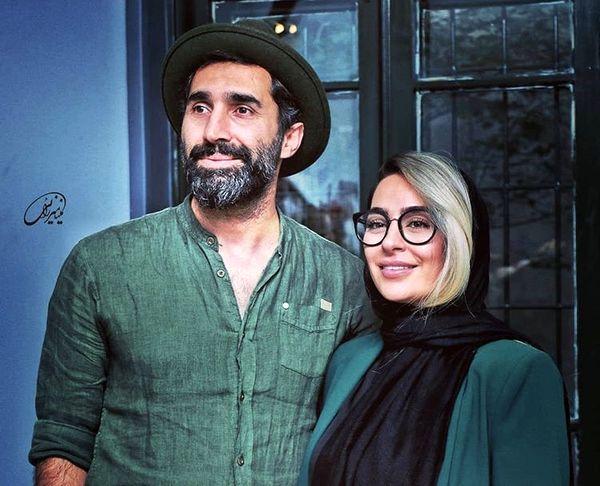 ست زیبای هادی کاظمی و همسرش + عکس