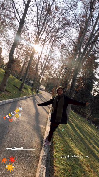 پیاده روی شبنم قلی خانی در پارک + عکس