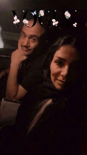 سلفی جدید مهران غفوریان و همسرش در ماشین + عکس