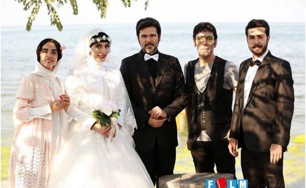 عروسی اندیشه فولادوند لب دریا+عکس