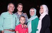 خانواده اروپایی احمد نجفی+ عکس