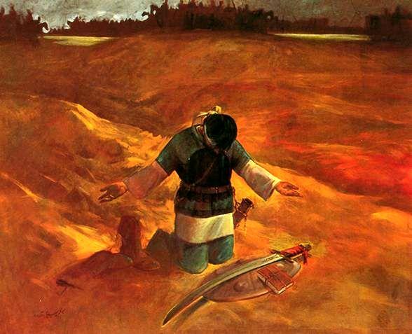 بازنمایی تابلوی نقاشی «توبه حر»