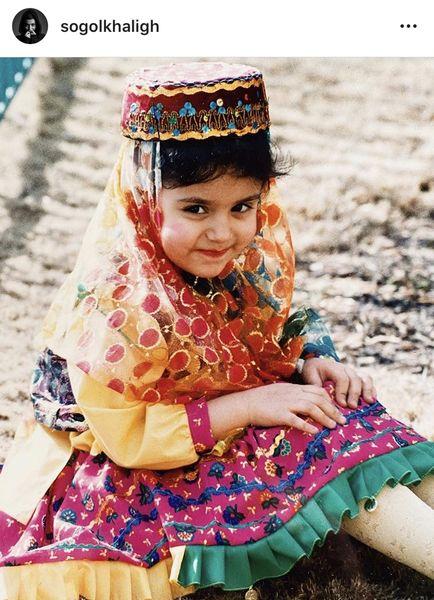 کودکی بامزه سوگل خلیق + عکس
