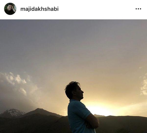 مجید اخشابی در غروبی زیبا + عکس
