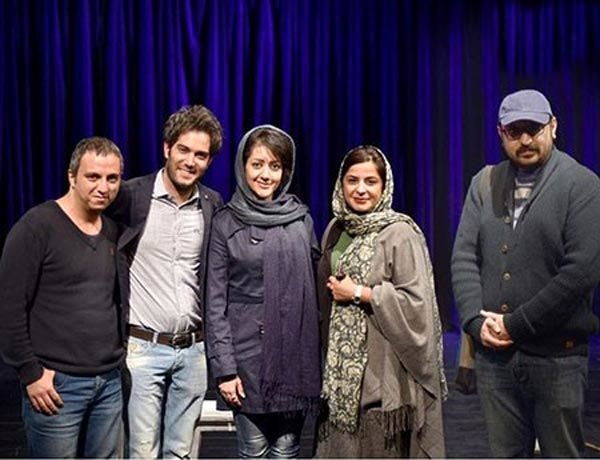 امیرعلی نبویان و همسرش در کنار خانم بازیگر+عکس