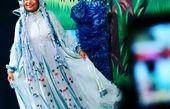 تبریک روز دختر بازیگر زن با لباسی عجیب+عکس