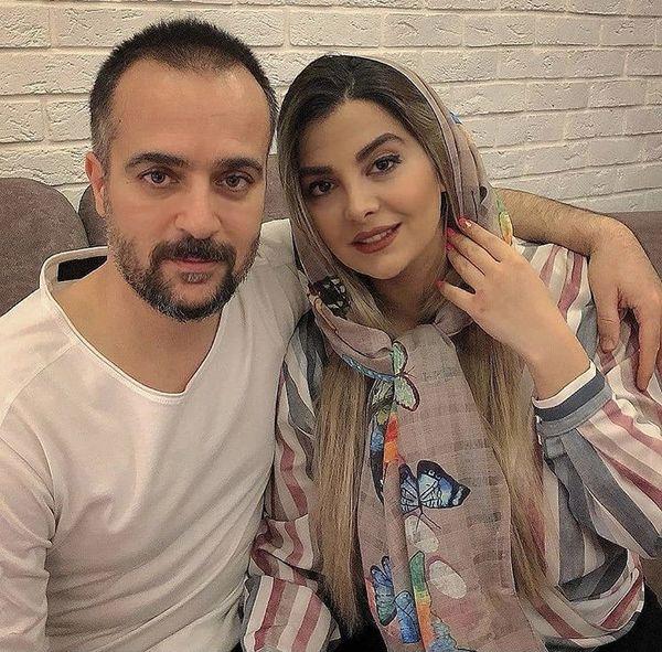 احمد مهرانفر و همسرش در منزلشان + عکس