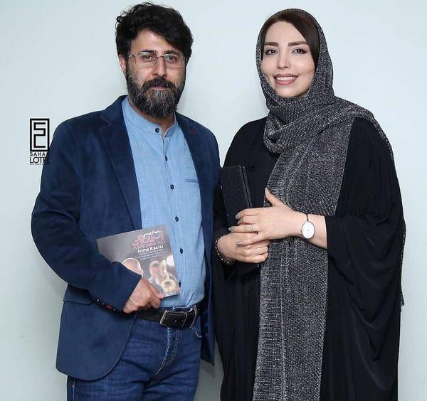 هومن حاجی عبداللهی و همسرش+عکس