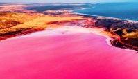 عکس/ دریاچه صورتی رنگ!
