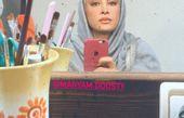 گریم خانم بازیگر برای بیمارستان + عکس
