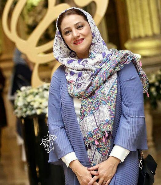 تیپ بنفش شبنم مقدمی+عکس