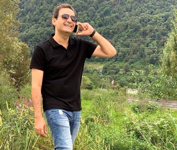 سعید شیخ زاده در طبیعت زیبای شمال+عکس