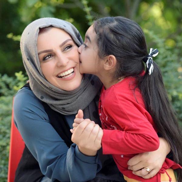 خوشحالی ماهچهره خلیلی از مادربودنش+عکس