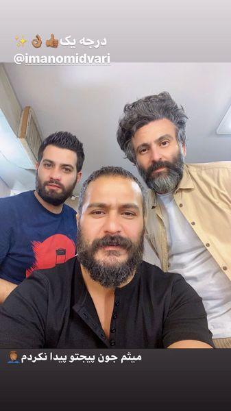 میلاد کی مرام در پشت صحنه کار جدیدش + عکس