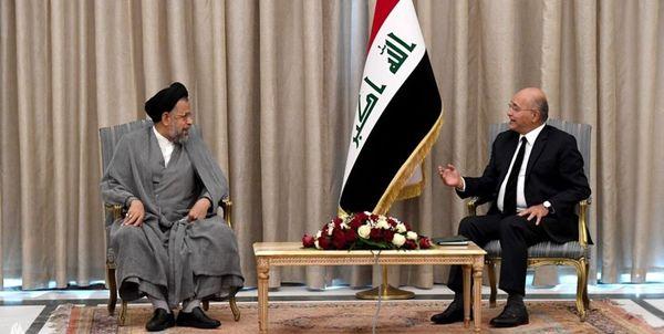 رایزنی وزیر اطلاعات ایران با رئیسجمهور عراق