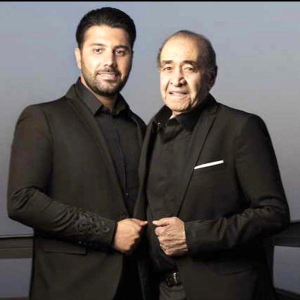 احسان خواجه امیری و پدرش + عکس