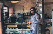 ریحانه پارسا در کافه جزیره هرمز+عکس