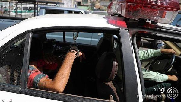خودروی پراید مشکوک در بزرگراه جناح متوقف شد ! + جزییات