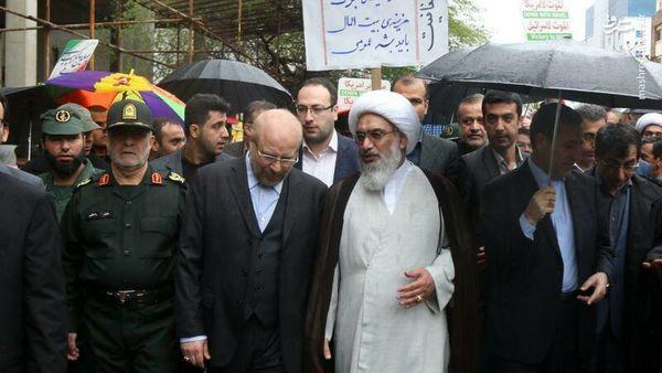 عکس/ حضور شخصیتها در راهپیمایی ۲۲ بهمن
