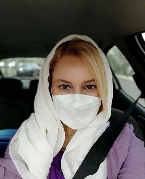 سلفی جدید مریم کاویانی در ماشینش + عکس