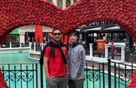 امیرحسین رستمی و پسر رشیدش در خارج از کشور+عکس