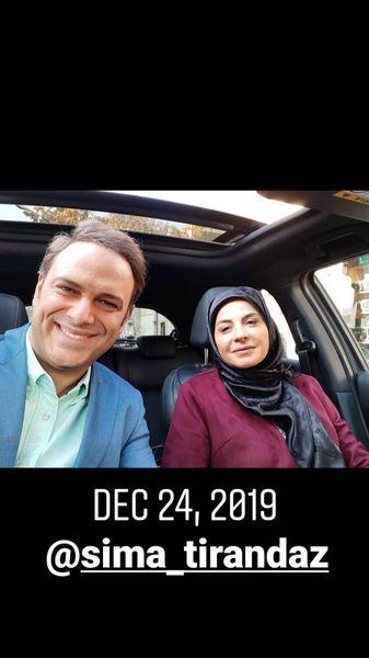 شهروز ابراهیمی در ماشین خانم بازیگر مشهور + عکس