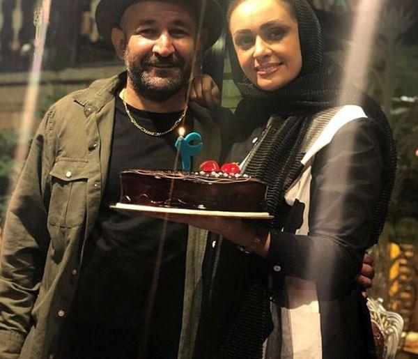 جشن سالگرد ازدواج هدایت هاشمی و همسر بازیگرش+عکس