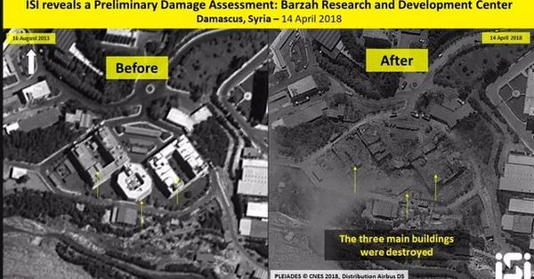 تصاویر سی ان ان از مقرهای سوری هدف گرفته شده توسط ائتلاف غربی
