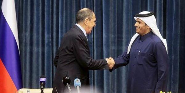 رایزنی لاوروف و همتای قطری در خصوص مسائل منطقه