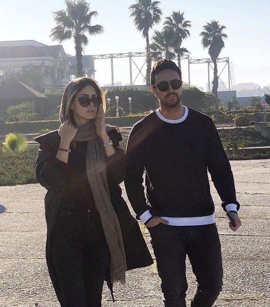 شاهرخ استخری و همسرش + عکس