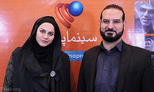 بانوی محجبه و موفق سینما ایران و همسرش+عکس