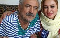 عکس خانم بازیگر جنجالی در کنار پدرش
