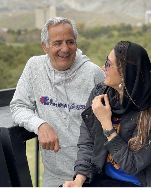 مجید مظفری در کنار دختر بزرگش + عکس