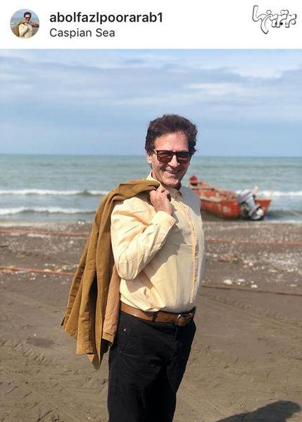 استایل ابوالفضل پورعرب در کنار دریا + عکس