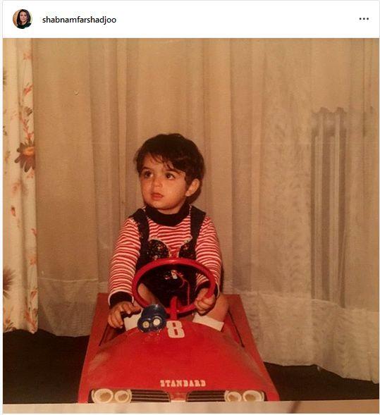 عکس زیبای شبنم فرشادجو در اولین ماشینش