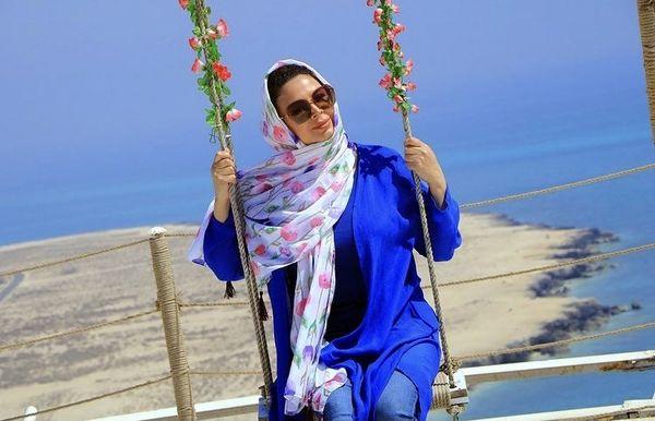 شهره سلطانی روی تابی رویایی + عکس