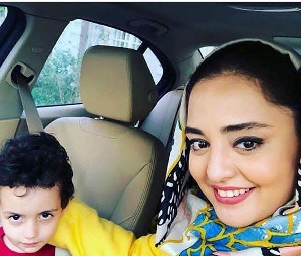 گردش نرگس محمدی با برادرزاده اش+عکس