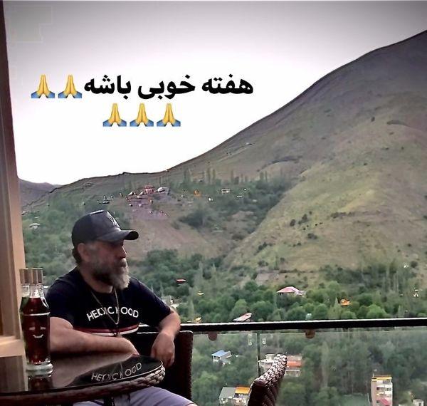 آرزوی علی انصارین در ویلایش + عکس