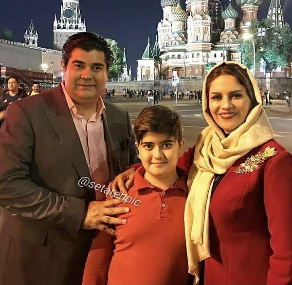 سفر سالار عقیلی و خانواده به روسیه + عکس