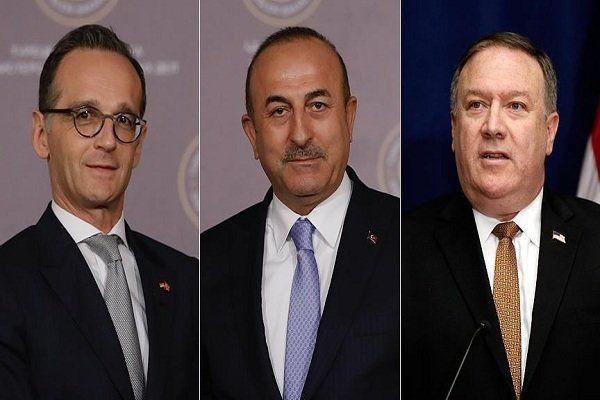 وزیر خارجه ترکیه با همتایان آمریکایی و آلمانی خود گفتگو کرد