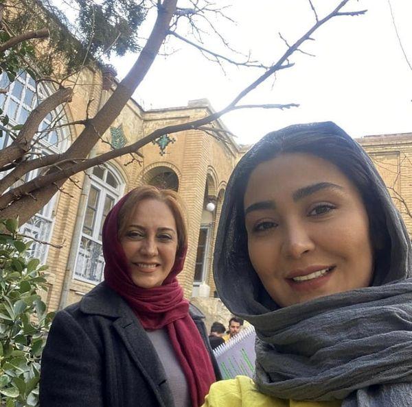 سلفی مریم معصومی با خانم بازیگر مشهور + عکس