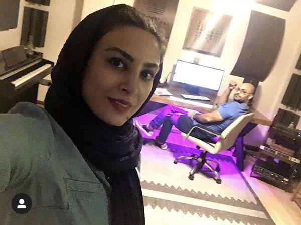 حدیثه تهرانی و همسرش در خانه شان + عکس