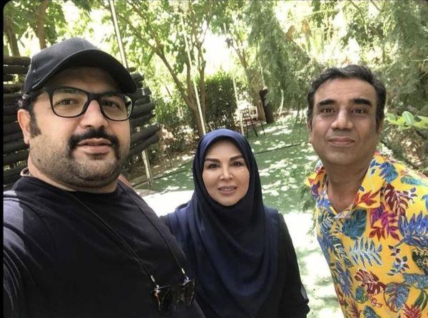 شهره سلطانی و نصرالله رادش در باغی زیبا + عکس