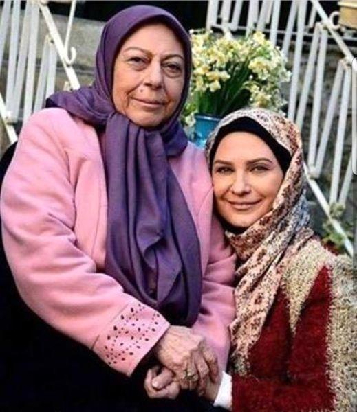 "عکس لعیا زنگنه و مادرشوهرش در ""در قلب من"""